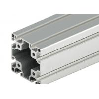 Wholesale Decorations Extruded T Slot , Silver Anodized T Slot Aluminium Extrusion from china suppliers