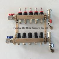 China Stainless Steel Floor Heating Flow Meter Manifolds for sale