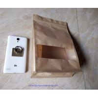 Buy cheap Laminated Brown Craft Paper Bags With Transparent Window In Front For Garment from Wholesalers