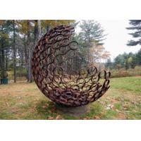 Buy cheap Outdoor Contemporary Corten Steel Hemilspheres Sculpture Garden Decoration from wholesalers