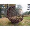 Buy cheap Outdoor Contemporary Corten Steel Hemilspheres Sculpture Garden Decoration from wholesalers