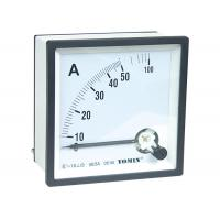 China European Style Moving Iron Analog Ammeter , Moving Coil Analogue Panel Meters With CT Operated for sale