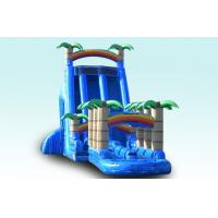 Wholesale Light Blue 27FT Tropical Rush Inflatable Water Slides Slip N Slide For Outdoor Plarground from china suppliers