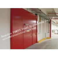 Wholesale PU Sandwich Core Painted Surface Steel Fireproof Doors For Warehouse Storage from china suppliers