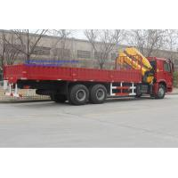 Wholesale Sinotruk 6x4 HOWO 16 Ton Truck Mounted Crane WD615.47 Euro 2 371 HP Red Color from china suppliers