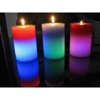 Wholesale Light Activated Pillar Flameless LED Candles Rainbow Color Changing Eco Friendly from china suppliers