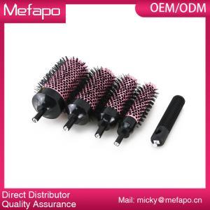 China Round Plastic Nylon Brush Detachable Ceramic Ionic Hair Brush on sale
