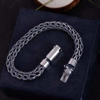 Wholesale Retro Handmade 925 Sterling Silver Rope Chain Mens Bracelet(060670) from china suppliers