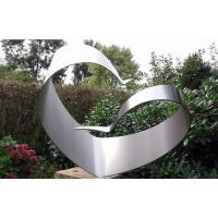 Wholesale Simple Design Stainless Steel Outdoor Sculpture , Brushed Modern Metal Outdoor Sculptures from china suppliers