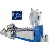 Wholesale PVC Double Wall Corrugated Pipe Plastic Extrusion Machine , PVC Corrugated Pipe Extrusion Line from china suppliers