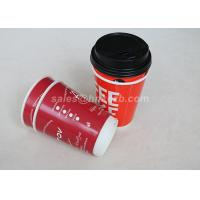 Wholesale Red Double Wall To Go Custom Disposable Coffee Cups With Black Lid from china suppliers