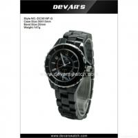 China 2012 Ladies Ceramic Watch Band With Japan Movt 3 Atm 10 Atm Dc3018f-s-1 on sale