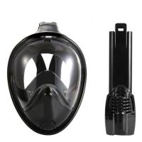 Wholesale Black Vision / Round Full View Easy Snorkel Mask Eco Friendly Liquid Silicone Material from china suppliers