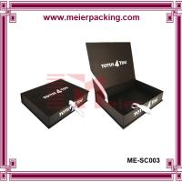 Wholesale Luxury ribbon clamshell gift box, black paper cosmetic rigid box ME-SC003 from china suppliers