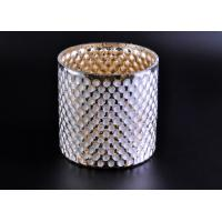 Wholesale Create Diamond Shining Votive Glass Candle Holder With Woven Pattern from china suppliers