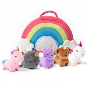 China Unicorn Plush Toy Set with Rainbow Case Girls Stuffed Animal Plush Baby Girl Toys with Rainbow Wings Pink 12 Inches on sale