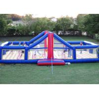 Wholesale Amusement Park Inflatable Sports Games 0.9mm Bounce House Volleyball Court from china suppliers