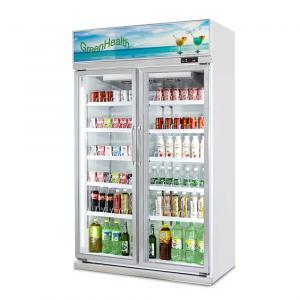Buy cheap Adjustable Shelves Glass Door Freezer Beverage Display Cooler / Drinks Display Fridge from wholesalers