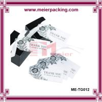 Wholesale Jewelry hangtags with ribbon string, paper gift thank you hangtags ME-TG012 from china suppliers