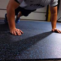 Wholesale Long service life rubber flooring tiles with color speckles for fitness facility from china suppliers