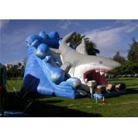 Wholesale Giant 8M Length Outdoor Commercial Inflatable Shark Slide For Players from china suppliers