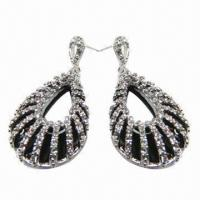 Wholesale Drop Earrings, Made of Rhinestone from china suppliers