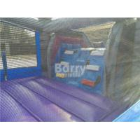 Quality 0.55mm PVC Tarpaulin Inflatable Bounce House Slide Combo For Kids for sale