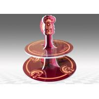 China KT Board 2- tier Cardboard Cup Cake Stand For Party Occasion on sale