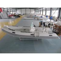480cm FRP Rigid Inflatable Rib Boat 8 People With Front Locker / SS Light Arch