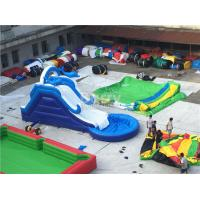 Buy cheap Commercial Giant Pvc Tarpaulin Inflatable Water Slides With Pool Customized from wholesalers