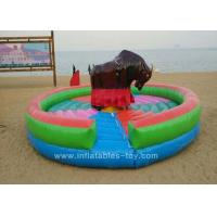 Wholesale Amusement Park Inflatable Sports Games , Inflatable Sporting Mechanical Bull from china suppliers