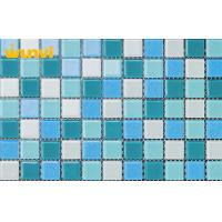 Wholesale Square Glitter Hotels / Bars Crystal Glass Mosaic Tiles With Cleaning Easliy from china suppliers