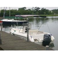 Wholesale Fiberglass Simple Pleasure Yacht Comfortable / Durable 5.5m With Sunbath Bed from china suppliers
