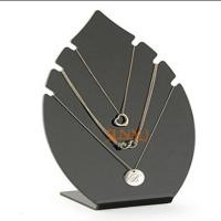 Quality Black 5mm Acrylic Jewelry Display Stands Leaf Shaped For Necklaces for sale