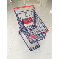 Wholesale Wire Shopping Cart  With Easy Pushing Handle and red plastic parts from china suppliers