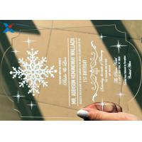 Wholesale Recyclable Acrylic Gifts Luxury Laser Cut Clear Color DIY Acrylic Wedding Invitations from china suppliers