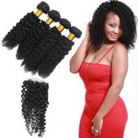 Wholesale 4 Bundles Peruvian Human Hair Extensions Lace Frontal Closure OEM Service from china suppliers