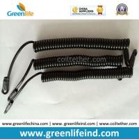 Retracted Black Short Length Coiled Tool Coiled Lanyard for sale