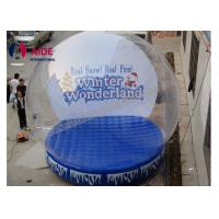 Wholesale Blue PVC Inflatable Holiday Decor Snow Globe For Christmas Advertise Show from china suppliers