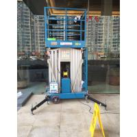 Wholesale 10 M Aluminum Alloy Aerial Work Platform Manlift Double Vertical Platform Lift from china suppliers