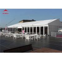Wholesale 10 x 24m White Reinforced Pvc Fabric High Peak Tent For 200 People / Roof Top Polygonal Tent from china suppliers