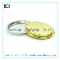 Quality metal round tin food serving tray for sale