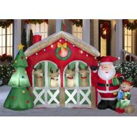 Wholesale Giant Custom Advertising Inflatables Waterproof Oxford Cloth Christmas House from china suppliers