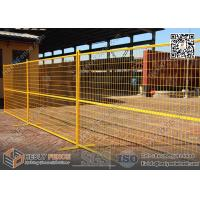 yellow color temporary fence panels made in China