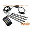 Multicolor Music Car Interior Light / 5050 RGB LED Underdash Lighting Kit for sale