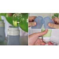 Wholesale hot sell Empty Squeezable Silicone Refillable Travel Shampoo Cream Tubes Bottle from china suppliers
