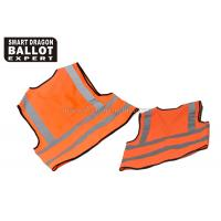 Wholesale Knitted Fabric Orange Safety Vest ,  High Vis Protective Reflective Clothing Jacket from china suppliers