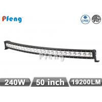 Quality 50 Inch Single Row Led Light Bar 240W Curved 10W Each LED Cree Chip for sale