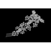 China Vintage Style Hair Comb 925 Sterling Silver Plated Crystal Bridal Hair Comb G1194-S-001 for sale