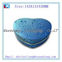 Wholesale blue heart shape chocolate tin box packaging from china suppliers